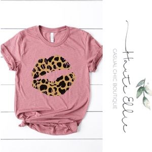 Pucker Up Leopard Lips